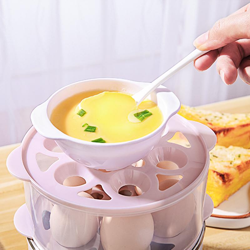 荣事达RD-Q291煮蛋器家用多功能自动断电双层蒸蛋器迷你早餐神器