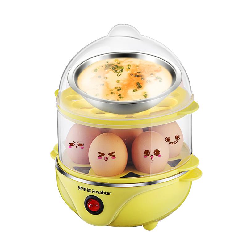 荣事达煮蛋器自动断电家用双层多功能迷你小型煮鸡蛋羹机蒸蛋器