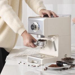 ACA/北美电器ES12A咖啡机家用小型意式全半自动蒸汽奶泡卡布奇诺