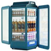 ONRUN 66L热饮展示柜饮料牛奶加热柜热饮柜热饮机热罐机四面玻璃