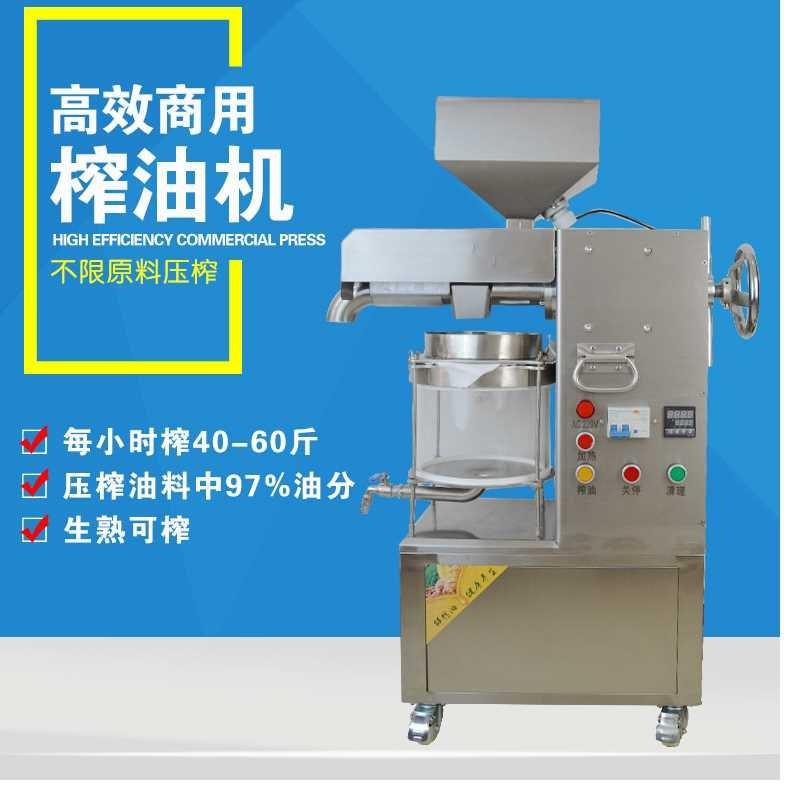 榨油移动机商用中型油坊大型香油炸油机山茶油杏仁加料机新型不锈