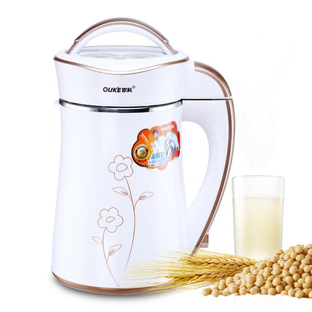 欧科豆浆机加热家用全自动小型免过滤熬煮浓香型双层保温全钢机头