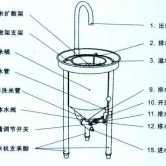 全自动不锈钢洗米机水压式冲洗豆高粱小麦淘大米机商用25KG 100斤
