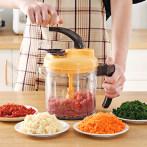 手动绞肉机家用搅拌饺子馅碎菜多功能料理手摇小型剁打切辣椒神器