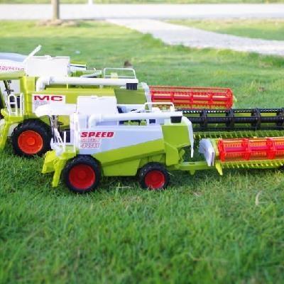 农夫工程车米机玩具车程小麦联合收割机机转动割型小号头2018。
