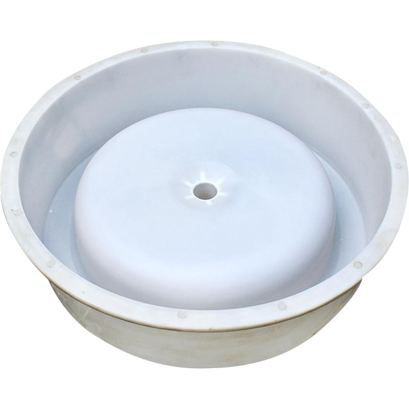 猪槽模具水泥猪料槽模具猪用圆形下料器底盘水泥圆形大猪食槽模具