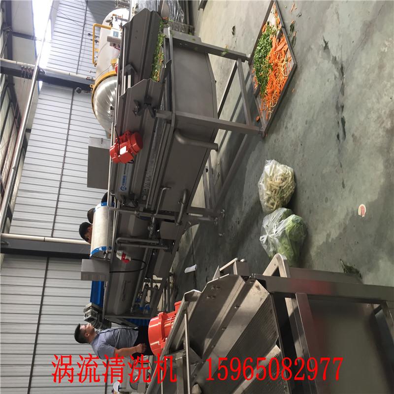 小型涡流清洗机 中央厨房净菜加工清洗生产线 蔬菜清洗机定制厂家