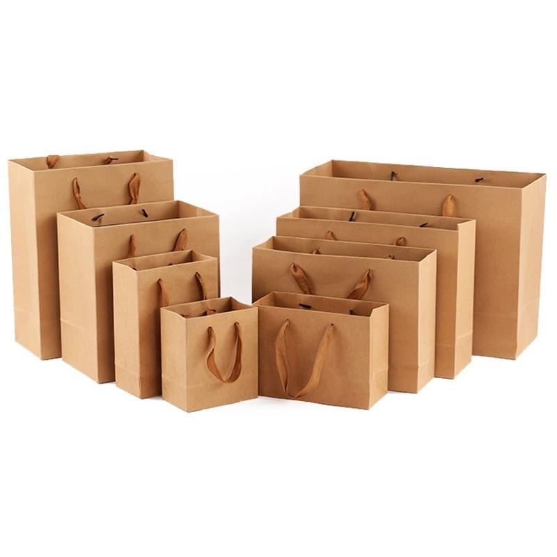 加厚牛皮纸袋食品白酒手提袋茶叶蜂蜜包装袋礼品袋子定制印刷logo