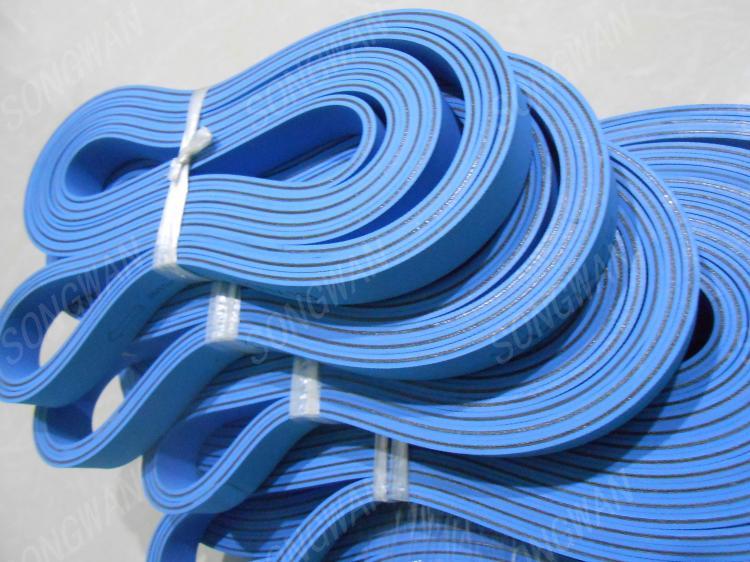 糊盒机传送皮带 全自动糊盒机折盒带 折叠输纸皮带 双面蓝平皮带