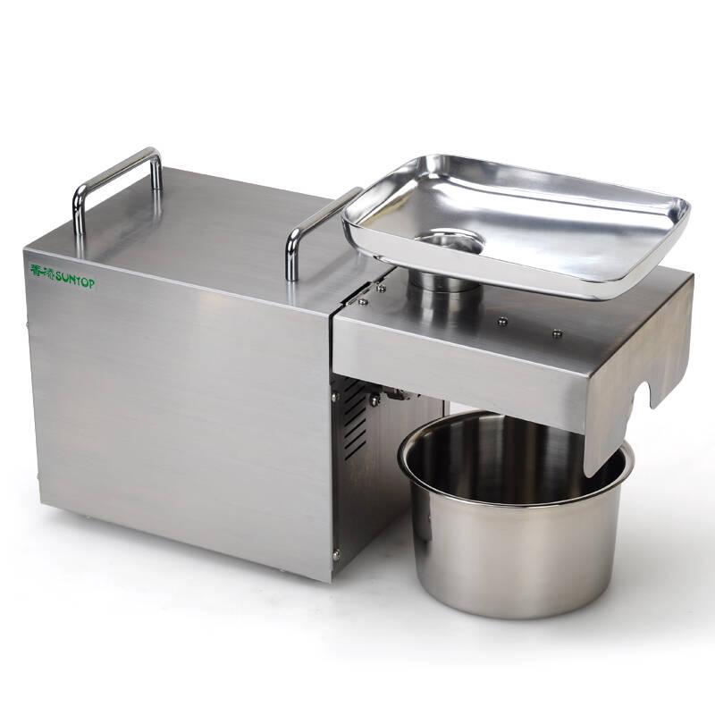 全自动家用榨油机 小型家庭商用不锈钢榨油机冷热电动 全自动榨油机