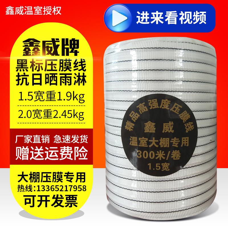 包邮大棚压膜带白色涤纶丝压膜线压膜绳托膜线配件温室蔬菜抗老化