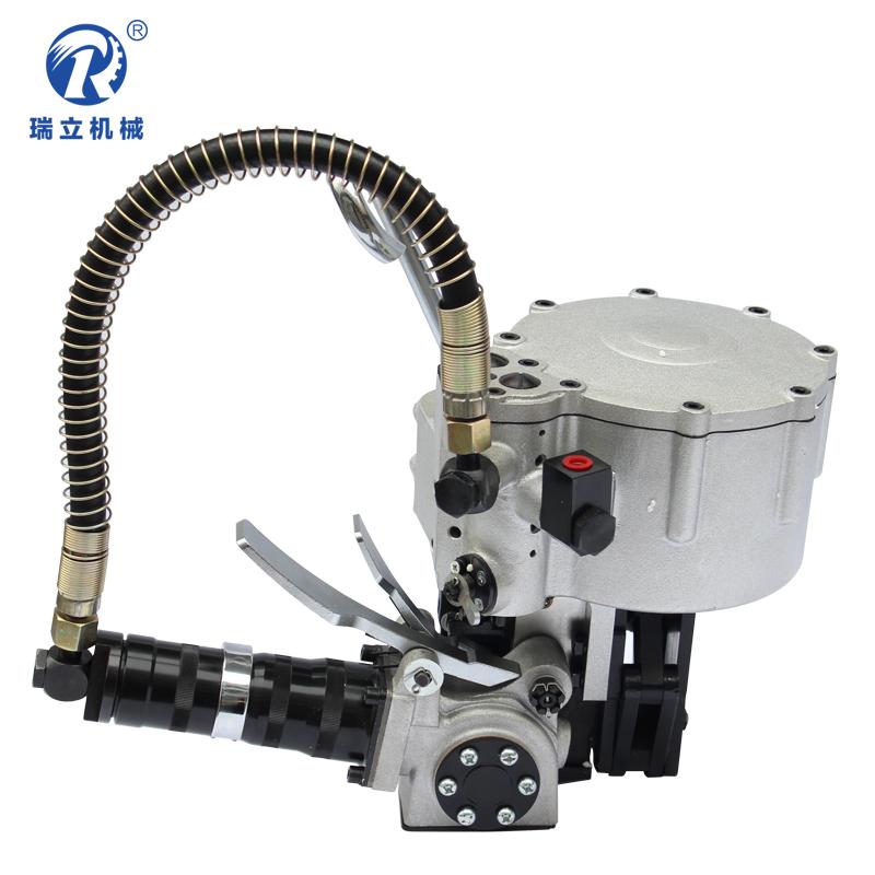 瑞立 KZ-32型19型气动钢带捆扎机 气动一体铁皮打包机全自动打包机