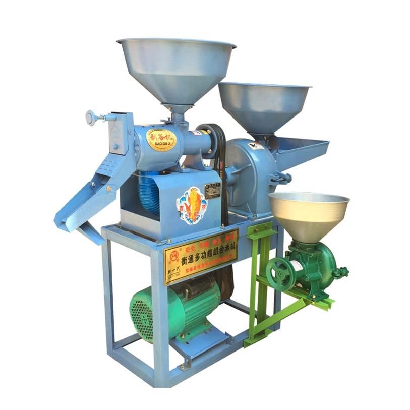 一体玉米加工小米全自动玉米机设备小型碾米机脱皮打米机营养高梁