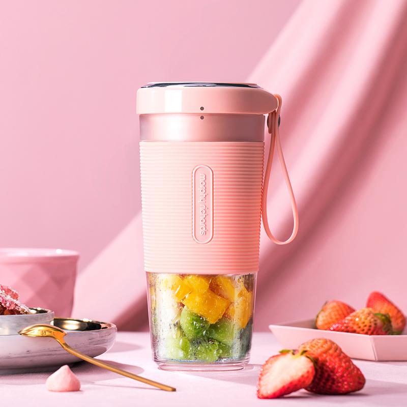 【套装】摩飞便携榨汁杯MR9600(三色可选)+家用榨汁机MR9500