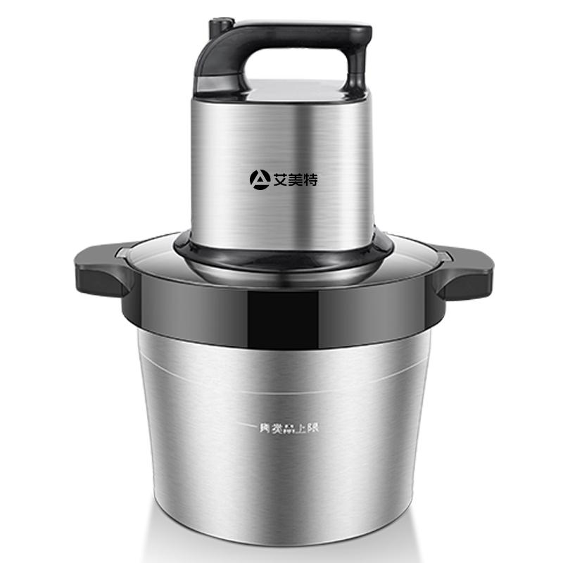 艾美特绞肉机6L大容量多功能家用电动搅拌不锈钢碎肉菜商用绞馅机