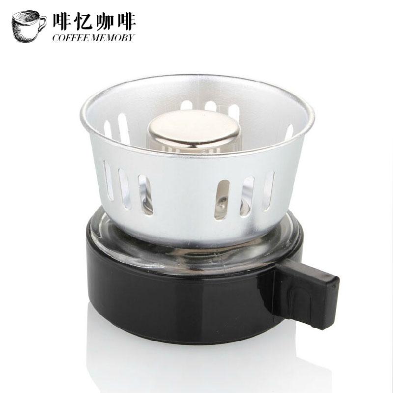 啡忆咖啡 不锈钢金属酒精灯 迷你便携式加热炉 煮茶煮咖啡酒精炉