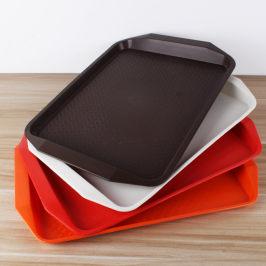 啡忆 长方形咖啡托盘家用塑料欧式简约水杯餐具托盘创意茶盘托盘