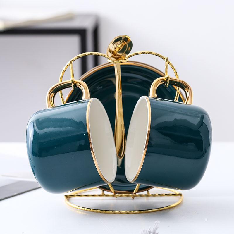 啡忆陶瓷咖啡杯套装 欧式小奢华马克杯精致北欧ins家用下午茶具