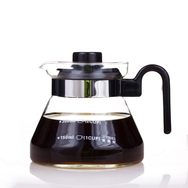 啡忆 直火壶大容量玻璃花茶壶 刻度凉开水壶 耐热煮咖啡壶烧茶壶