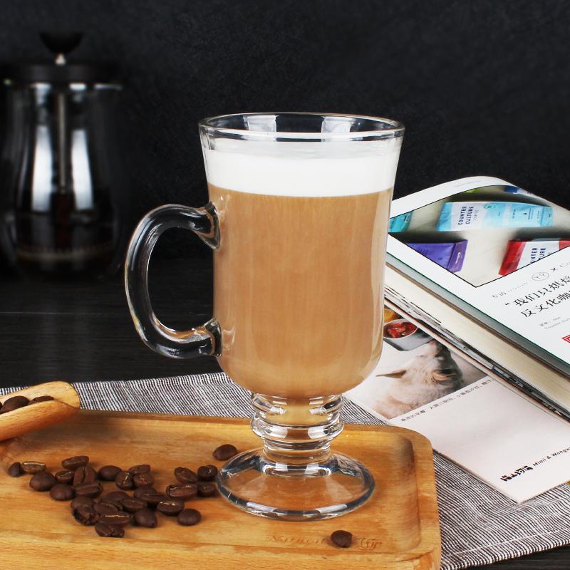 啡忆 透明玻璃杯 耐热牛奶杯热饮杯 拿铁杯咖啡杯奶茶杯马克杯子