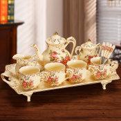 啡忆 咖啡杯套装 欧式小奢华咖啡杯简约创意下午茶具家用陶瓷水杯