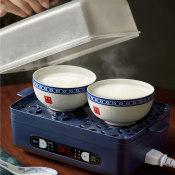 小熊煮蛋器家用小型自动断电单层蒸蛋器定时神器早餐机双皮奶机