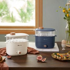 小熊煮蛋器蒸蛋器家用小型自动断电双层定时迷你多功能厨房小电器