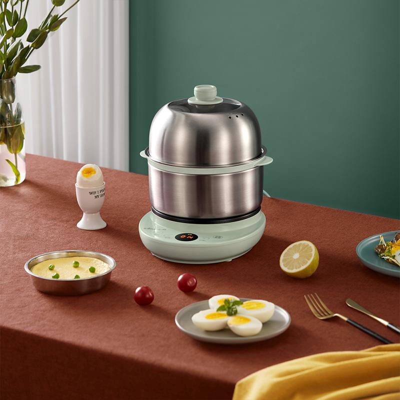 小熊煮蛋器自动断电双层蒸蛋器定时家用小型迷你鸡蛋羹神器早餐机