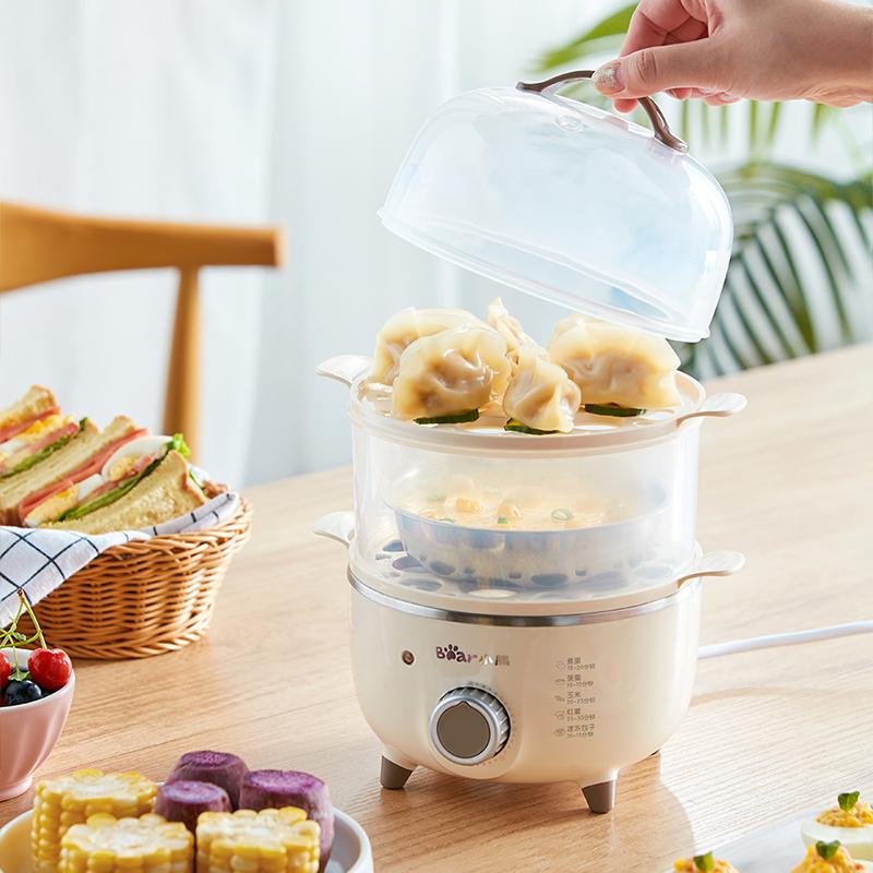 小熊煮蛋器家用自动断电双层多功能小型迷你蒸蛋羹早餐神器蒸蛋器