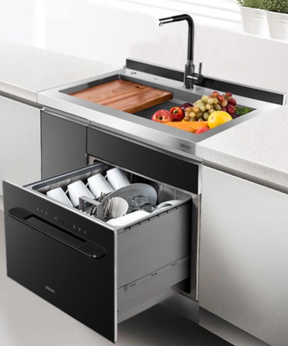 sacon/帅康集成水槽洗碗机SSX6全自动多功能大单槽带多功能盆中盆